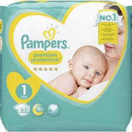 Pampers Premium Protection, velikost 1, 2-5 kg