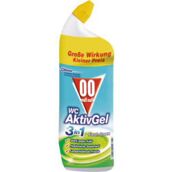 WC - čistící aktiv gel 4v1 Cool Fresh Green, 750 ml