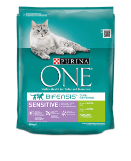 PURINA ONE -Sensitive bohaté na krůtu a rýži 450 g